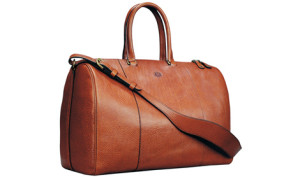 formal leather duffle bag