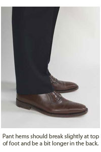 proper length for men's trousers