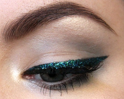 Glitter eye-make-up for party season
