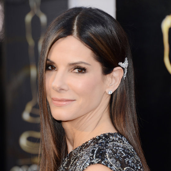 Style it up with a brooch like Sandra Bullock