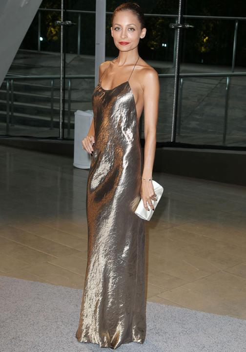 Nicole Richie in metallic dress