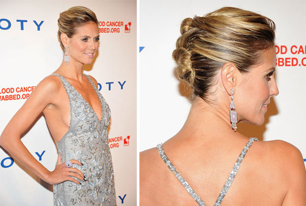 Heidi-Klum-french-twist-pin-bun-hairstyle