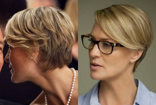 Short hairstyle claire underwood