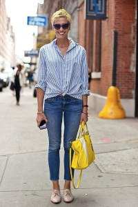 casual look with jeans and oxfords