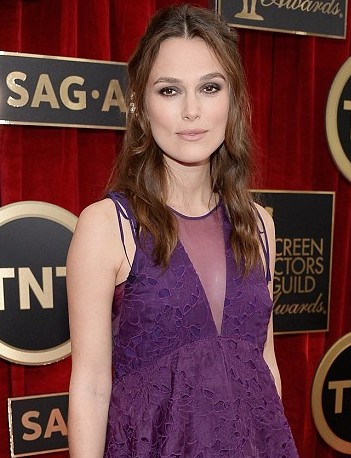 Keira Knightley Illusion neckline