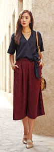 Singapore style in culottes