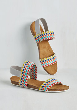 colouful sandals