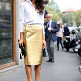 Metallic trend 2014- how to wear metallic